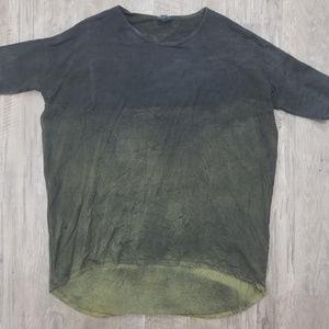 Lg. LLR IRMA Tunic- Olive - TieDye Fade To Black